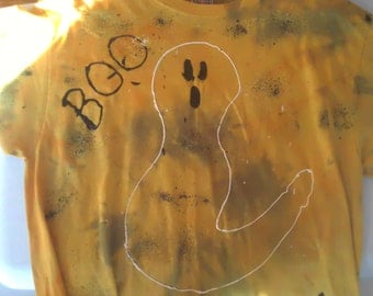 Halloween ghost tie-dyed t-shirt - adult large