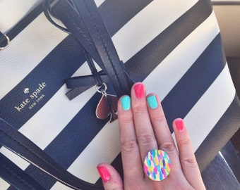 Multi color statement ring
