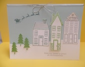 Hand Stamped From Our House to Yours Christmas Card - Stampin' Up