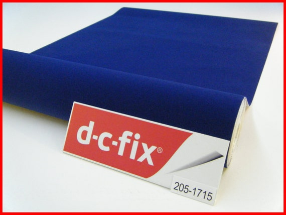 Dc fix velour blue felt velvet 1m x 45cm sticky back plastic - Dc fix tischdecken ...