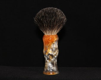 Custom Made 22mm Shaving Brush (Handle Only) Gold and Silver