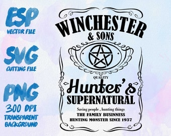 Winchester and sons label Clipart , SVG Cutting , ESP Vectors files , T shirt , iron on , sticker ,Personal Use