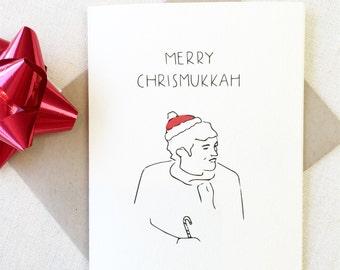 CHRISMUKKAH Card, Happy Hanukkah Card, Funny Christmas Car, Jewish Christmas Card, Happy Holidays Card, Funny Holiday Card, Xmas Card