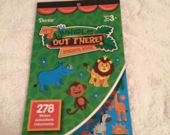 jungle a out there sticker book