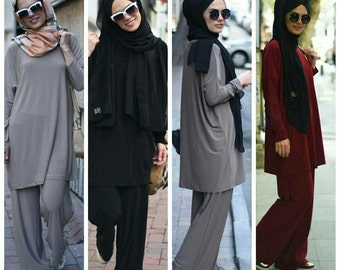 Jersey Tunic and Pants Set