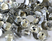 Crystal Clear Glass Rhinestones - SS16, 1440 pieces - 4mm Flatback, Round, Loose Bling