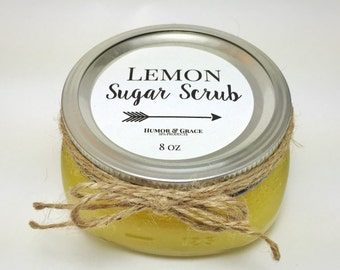 Lemon Sugar Scrub, 8 oz