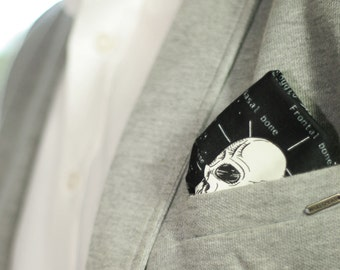The Anatomy of Style Pocket Square: glows in the dark