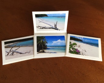 "Beach and Sea Photo Greeting Cards -- Set of 4 cards -- The ""Antigua"" Photo Card Collection"