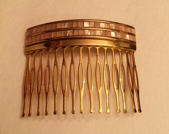 MOP and brass hair comb
