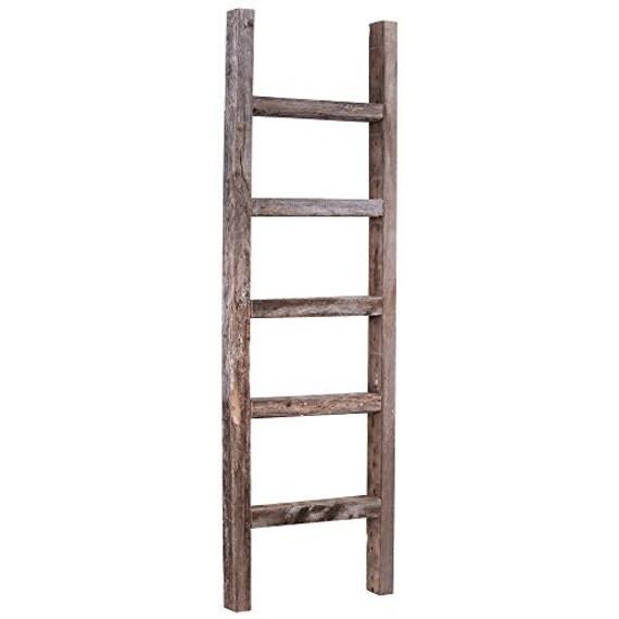 barnwood rustic wooden ladder weathered by barnwoodusahomedecor. Black Bedroom Furniture Sets. Home Design Ideas