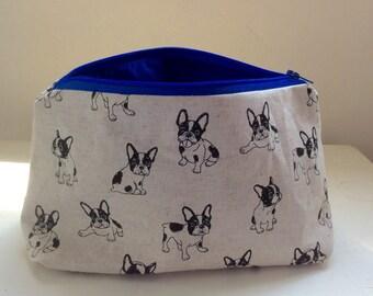 French bulldog make up cosmetic bag
