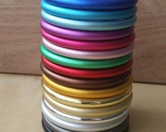 Aluminum sling rings size S in blue, red, green, silver, black, pink, purple...
