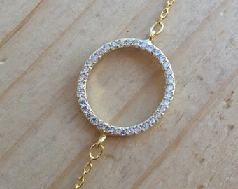 Small Circle Bracelets Cz 925 / Sterling Silver