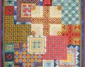 Mediterranean Squares Needlepoint Complete Kit