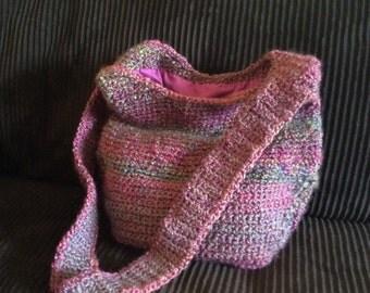 Crochet Hobo Bag, Purse