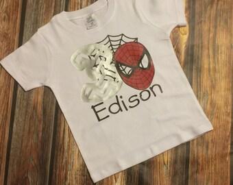 Toddler SpiderMan Birthday Shirt