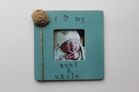 aunt and uncle picture frame turquoise photo frame rustic