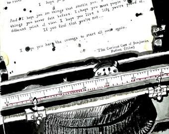 Message in a Typewriter-8x10 Print