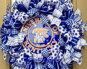 University of Kentucky wildcat wreath, UK wreath, U of K wreath, sports wreath