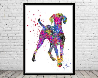 Vizsla,  Hungarian Vizsla dog  watercolor Print, watercolor art print, animal painting, home decor, watercolor painting dog,  dog (857b)