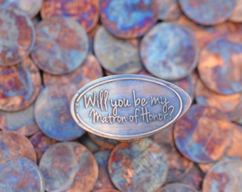 Matron of Honor Gift • Copper • Engagement Collection • Matron of Honor • Pressed Penny