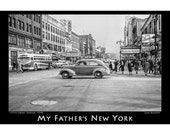 My Father's New York - 125th Street, Harlem, 1948 poster