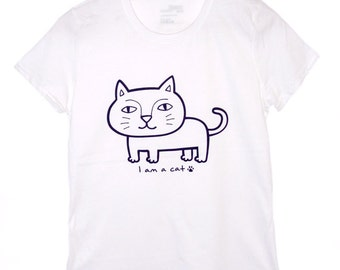 Cat shirt, Women's Cat T-shirt, Cat T-shirt, cat tee, animal Tee