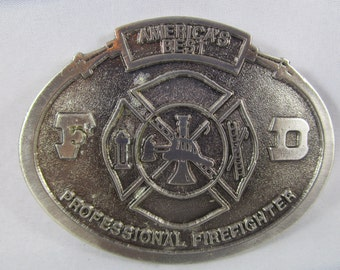 Belt Buckle, Fire Department, Profession Firefighter, Americ's Best