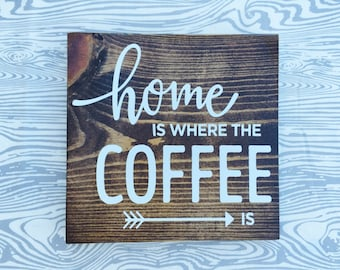 Home is where the coffee is sign