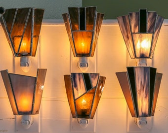 Tiffany stained glass nightlights