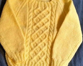 Yellow Cable Sweater