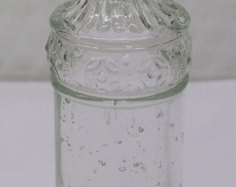 Heavy Plastic 1 1/2 ounce Glass Bottle with Decorations