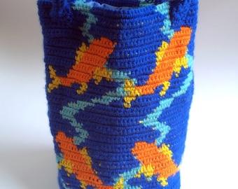 Koi Fish Purse, Tapestry Crochet