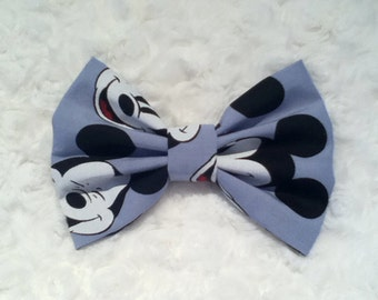 Mickey Mouse Hairbow, Mickey Fabric Bow, Baby Hairbow, Toddler Hairbow, Disney Hairbow, Mickey heads
