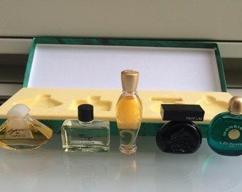 EMERAUDE FRANCE 5 miniature perfume set