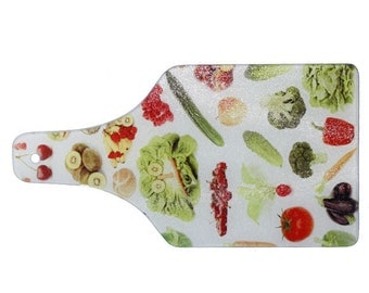 Sublimation-Set of 2-Cutting Board-Glass 7.5 x 14.25 Cheese-Use with Sublimation Inks
