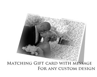 Customized Matching Gift Card with custom design order