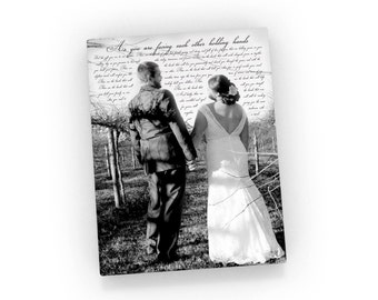Add words to a picture; Picture with lyrics; Wedding photo with quotes; Add vows to photo; Mothers day from Dad