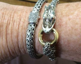 John Hardy Gold and Silver Dragon Bracelet