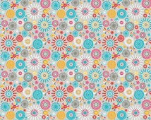 SALE Girl Crazy Girl Petals Gray by Dani for Riley Blake Designs F3823 - 100% Cotton Flannel Fabric - by the yard fat quarter half