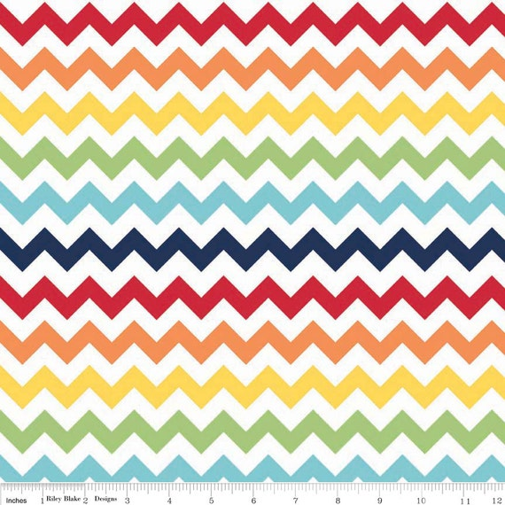 Small Chevron Rainbow by Riley Blake Designs - Jersey KNIT cotton ...