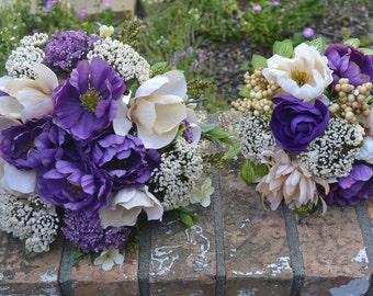 Champagne & Plum Bridal Bouquet