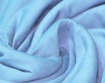 Light Blue - Cotton Lycra Jersey Knit Fabric