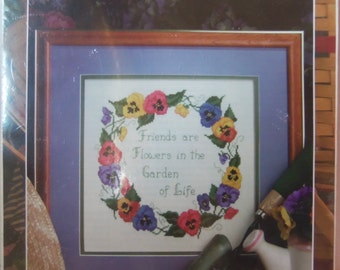 Embroidery Kit #5311 Pansies Designs For the Needle
