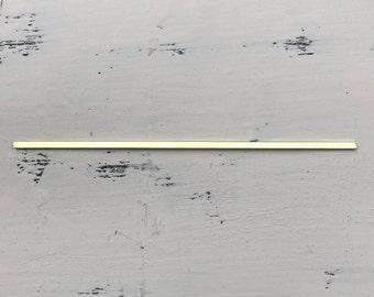Brass cuff blank 14g 1/8 in wide x 5.75 in smooth
