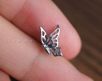 Cartilage earring 16g Tragus earring Helix earring Helix piercing Cartilage Tragus stud Cartilage piercing Conch piercing Butterfly #1E09