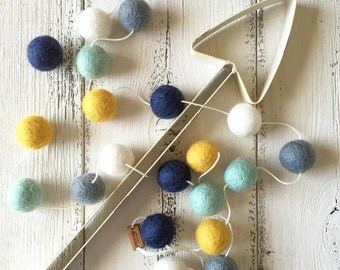 Felt Ball Garland - Northwest Navajo - Nursery Decor - Aztec - Boho Nursery - Boy Nursery Decor - Pom Pom Garland - Baby Shower Gift