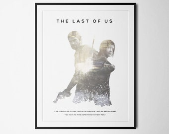 The Last Of Us Inspired Double Exposure Poster Print - Video Game Art