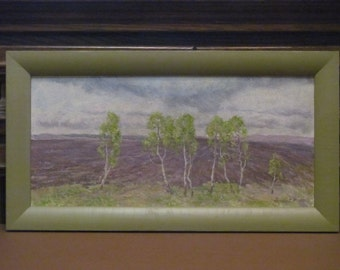 1993 First Green. Oil Painting. Siberia. Landscape. Original. Signed